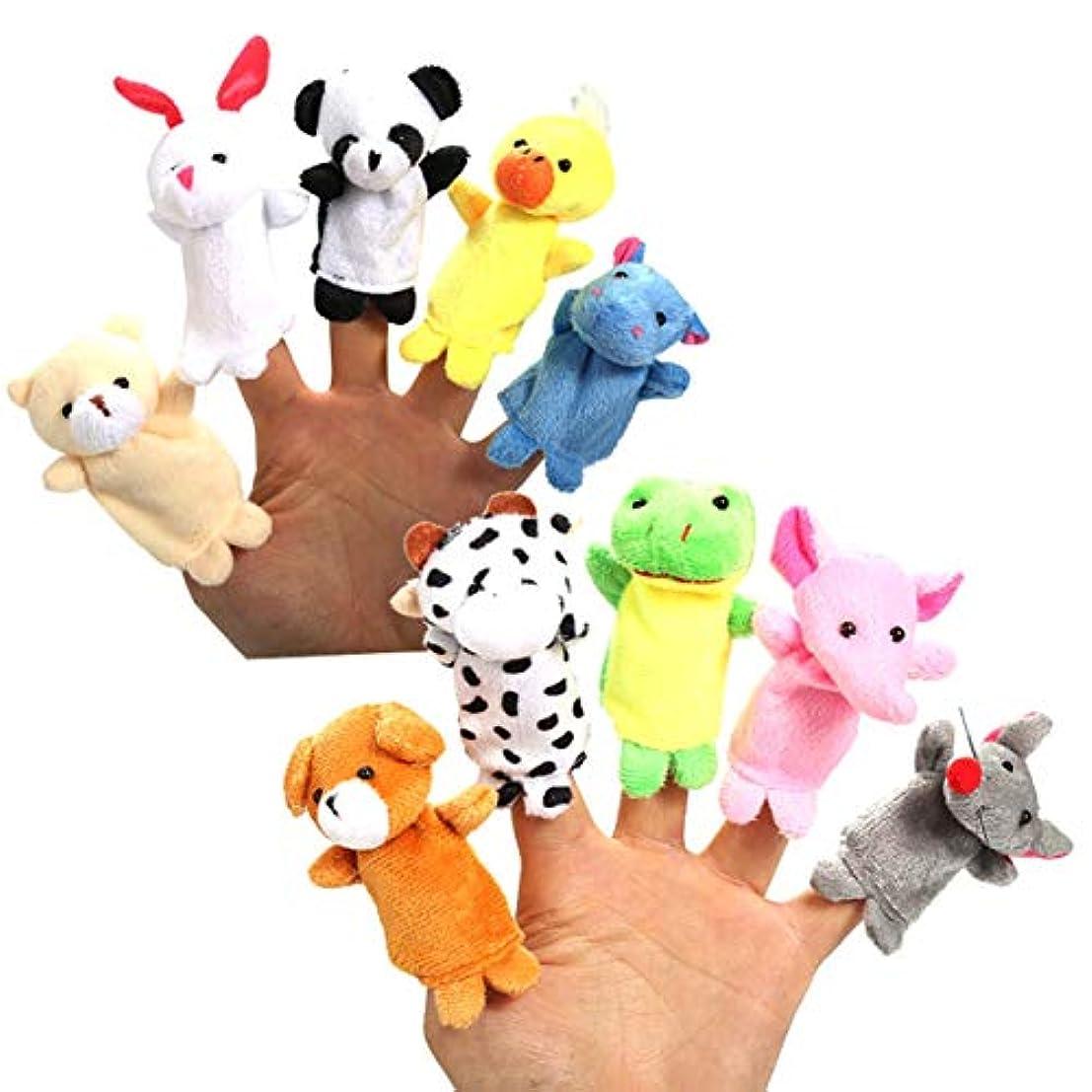 なめらかな磨かれた手ぬいぐるみ指人形漫画動物指ぬいぐるみ子供の教育玩具子供の人形赤ちゃんぬいぐるみぬいぐるみ-カラフル