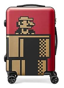 スーパーマリオ トラベル スーツケース(ワインレッド)
