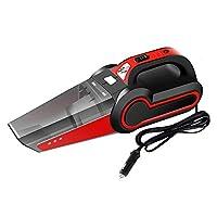 4イン1車の掃除機、12V 120Wシガーライターインターフェース、HEPAフィルター、5アクセサリー、3色から選択可能,Red