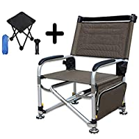 腕の多機能の魚スツールの上昇のキャンプの折り畳み式の調節可能な角度が付いている釣椅子は小さい折るキャンプスツールが付いている200のKgのギフトに耐えることができます