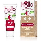 Hello Oral Care フッ化物無料幼児教育の歯磨き粉、オーガニックアップル、1.5オンス