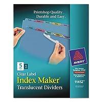 インデックスメーカークリアラベルPunchedディバイダー、マルチカラー5-tab、手紙、合計24St , Sold as 1カートン