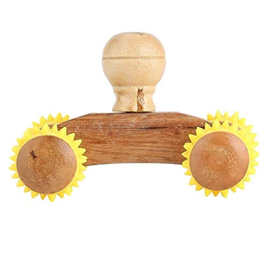 モナリザ語シンプルさWocume 6タイプ木製ローラーマッサージャー健康リフレクソロジー腹部フルボディストレスリリーフ廃棄(B)