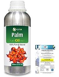 Palm (Elaeis guineensis)100% Natural Pure Carrier Oil 1000ml/33.8fl.oz.