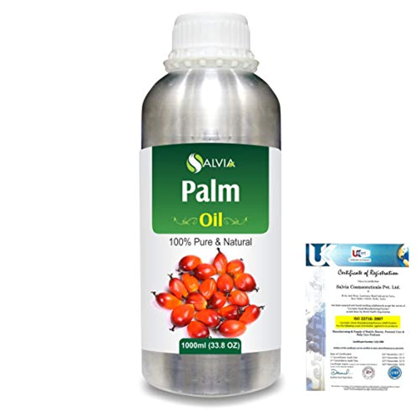 地区入場料土砂降りPalm (Elaeis guineensis)100% Natural Pure Carrier Oil 1000ml/33.8fl.oz.