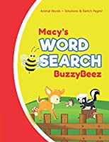 Macy's Word Search: Solve Safari Farm Sea Life Animal Wordsearch Puzzle Book + Draw & Sketch Sketchbook Activity Paper | Help Kids Spell Improve Vocabulary Letter Spelling Memory Logic Skills Creativity | Creative Fun | Personalized Name Initial Letter M