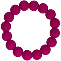 Funky Silicone Teething Bracelet for Mom to Wear - Color Crimson - Our teething beads are made from 100% food grade silicone and are free of heavy metals, PVC and BPA free. by Bambeado