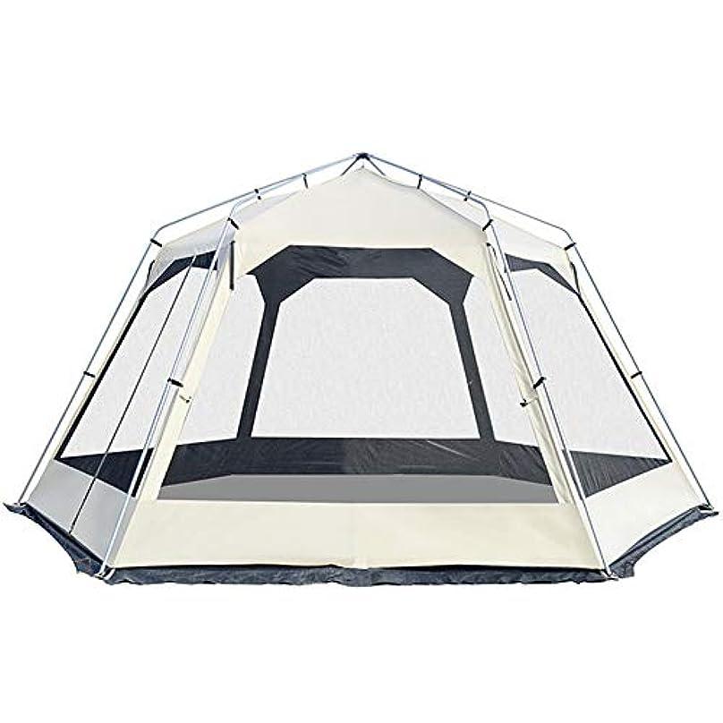 田舎薬剤師経験者屋外のキャンプテント、パーゴラ高級六角形の換気抗紫外線パーゴラマルチパーソン大型リビングルーム