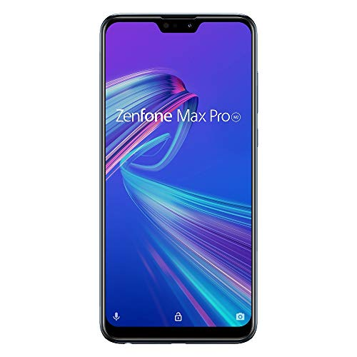 Zenfone Max Pro M2 【日本正規代理店品】 6.3インチ/ SIMフリースマートフォン / ミッドナイトブルー (4GB...