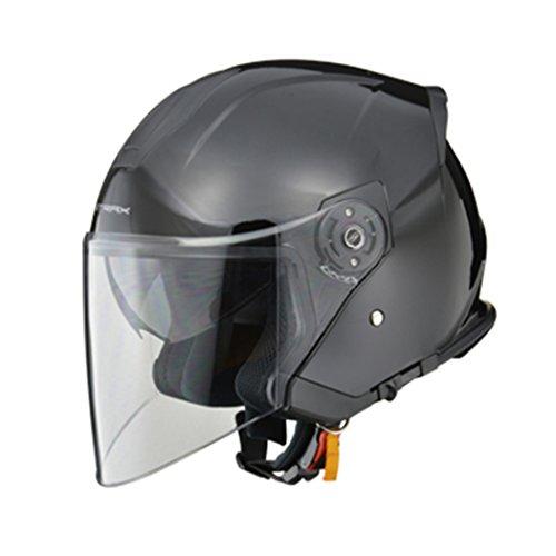 SJ-10 インナーシールド付ジェットヘルメット ブラック フリーサイズ SJ-10