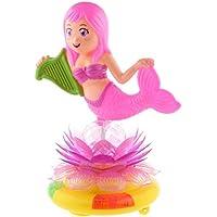 SONONIA オルゴール LEDライト 英語の歌 人魚のモデル 移動ベース 部屋の飾り 子供の誕生日 プレゼント
