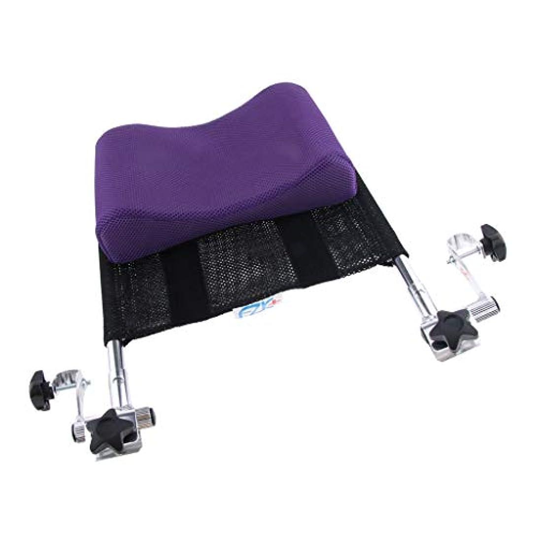 速いしつけより平らなPerfeclan 車いす ネックサポーター 首枕 ヘッドレスト クッション 背もたれ 高さや角度調整可能 軽量 - 紫, 42.5×37×10cm