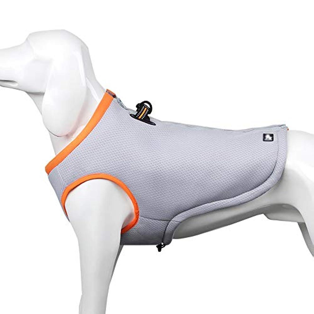 分布サンダー警察署Wazenku 犬用ハーネス引くことができないペット用ハーネス調節可能な屋外ペット用ベストスクリーンクロス素材ベスト用犬用中型大型犬用簡単制御 (色 : オレンジ, サイズ : L)