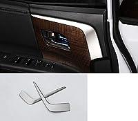 ホンダオデッセイ 2015-2018 車のインテリアドアアームレストカバートリム成形ストリップステッカークローム車のスタイリングインテリア装飾-Silver