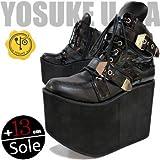 YOSUKE U.S.A ヨースケ 超厚底13cmソールのスニーカーブーツ レディース ブラック (【LL】24.5~25.0cm, ブラック(予約))