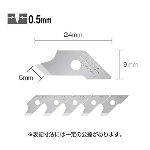 『オルファ(OLFA) カッター替刃 コンパスカッター替刃 15枚入 XB57』の2枚目の画像