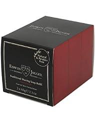 エドウィンジャガー サンダルウッド トラディショナルシェービングソープ65g 3パック[海外直送品]Edwin Jagger Sandalwood Traditional Shaving Soap 65g 3 Pack...
