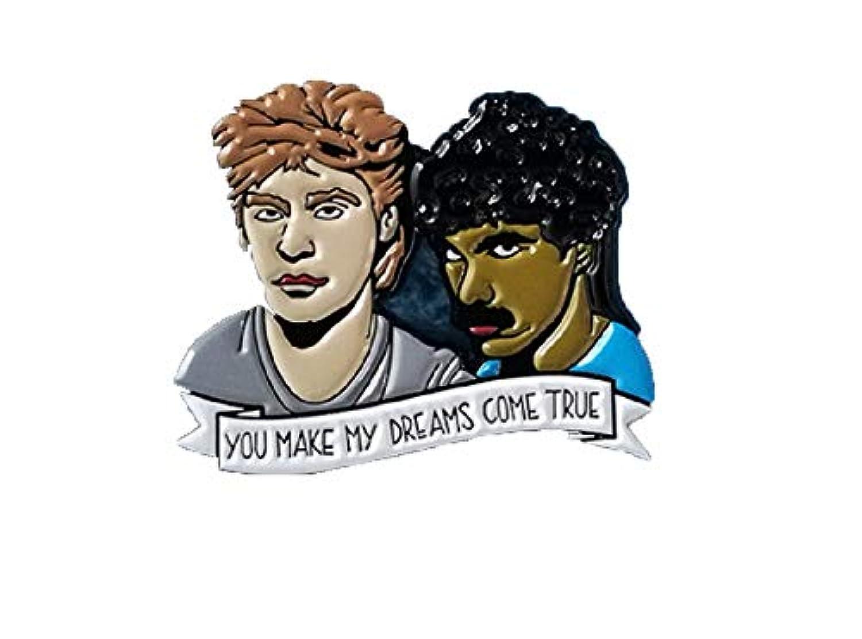 Daryl Hall & John Oates 1.5インチ You Make My Dreams Come True エナメル ピン 細部まで優れたディテール付き デニムジャケットやブックバッグに素敵。ノスタルジックファン...