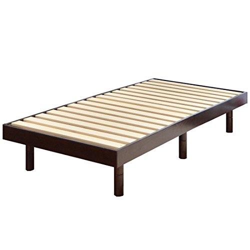 タンスのゲン すのこベッド シングルベッド 天然木 3段階高さ調節 耐荷重:約200kg ブラウン 11719094 01