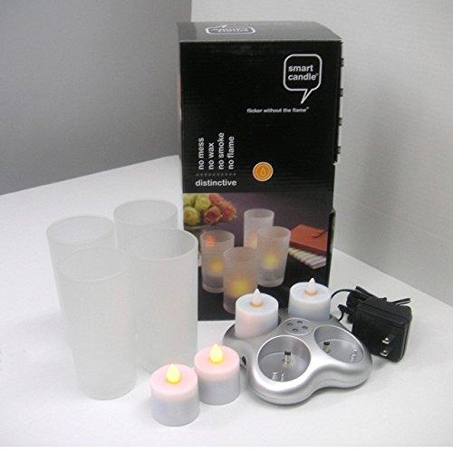 ろうそく 電気 ランタン 【インテリア照明】4ピース充電式キャンドルセット LEDキャンドル