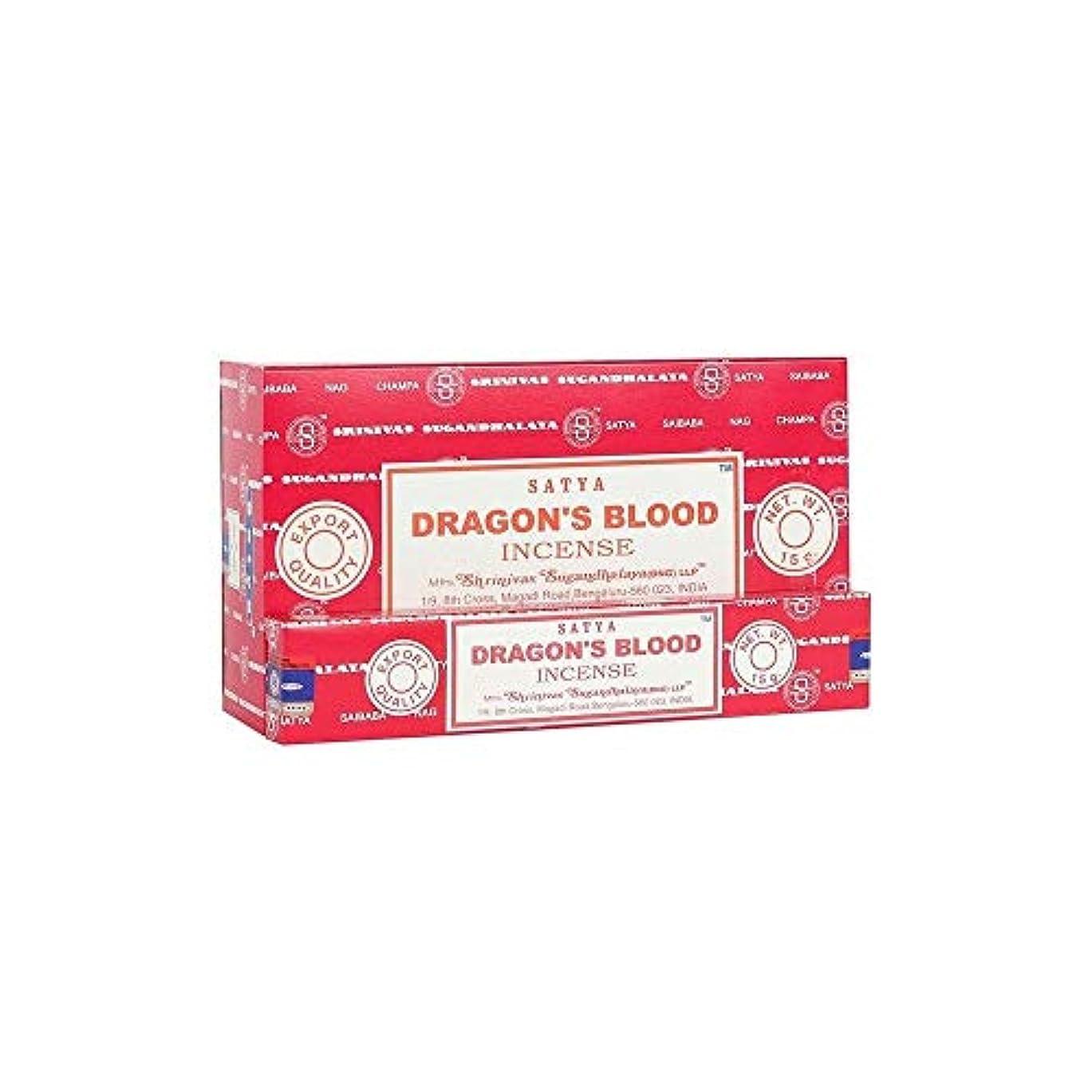 満員オール以降Satya Nag Champa Dragon's Blood お香スティック Agarbatti 180グラムボックス | 15グラム入り12パック 箱入り | 輸出品質