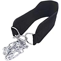 TOOGOO Gym Weight Lifting Belt with Chain for Pull Up Chin Up Kettlebell Barbell Fitness Bodybuilding Gym Barbell Exercise Belt