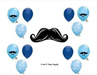LITTLE MAN MUSTACHE BABY SHOWER Balloons Decorations Supplies....13 pieces! by Anagram by Anagram