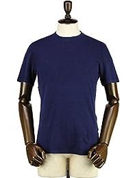 GIRELLI BRUNI ジレッリブルーニ メンズ リネン ストレッチ スラブ クルーネック 半袖 Tシャツ L030CA INDIGO (ネイビー)