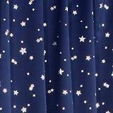 1級遮光カーテン プラネット ネイビーブルー 幅100cm×丈200cm 2枚入 全2色8サイズ