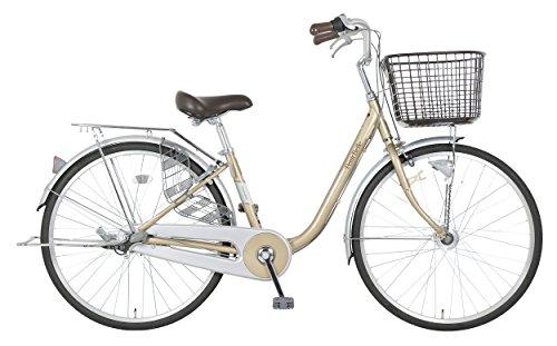 marukin(マルキン) 完全組立 26インチ自転車 LEDオートライト プチベル ライトゴールド MK-18-018 ライトゴ...