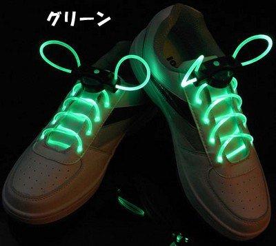 kaka 【光る靴ひも】フラッシュ ストリング(グリーン) ...