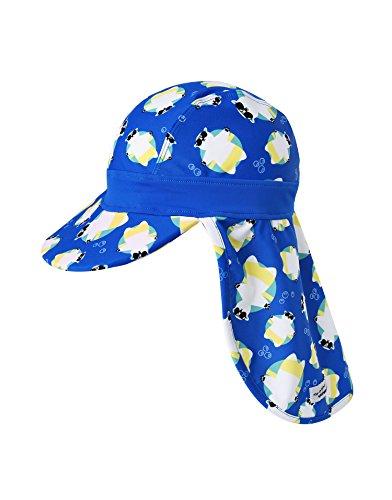 Vaenait Babyベビー 子供水着日焼け予防UVカットフラップキャップ帽子 UV Flapcap Tanning Bear Blue S