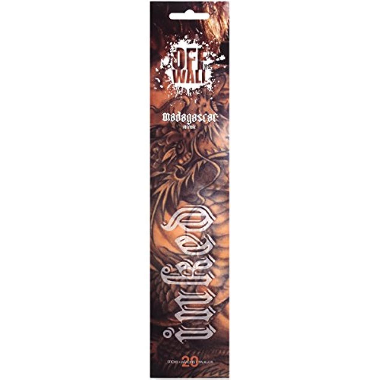 建てる感度シアーGonesh Incense Sticks Off the Wall Inkedマダガスカル、20ピース