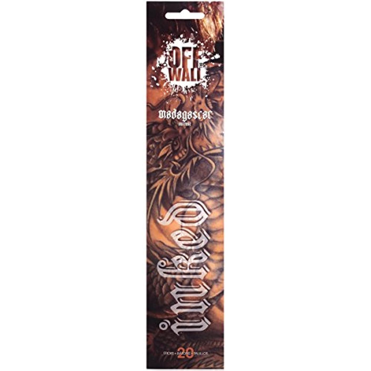 発掘する杖派生するGonesh Incense Sticks Off the Wall Inkedマダガスカル、20ピース