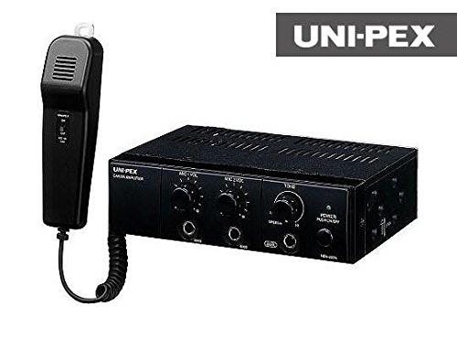 ユニペックス マイク付き車載用アンプ20W NDA-202A...