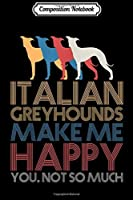 Composition Notebook: Italian Greyhound Matching Family Group Christmas Gif Journal/Notebook Blank Lined Ruled 6x9 100 Pages
