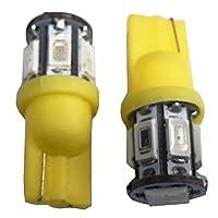 12V 専用 T10 ウェッジ 球 サムスン製 SMD LED 8連 オレンジ アンバー 2個 セット