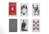 Dal Negro Siciliane 015010 Italian Regional Playing Cards Plastic%カンマ% Red Case - Deck of 40 Cards [ Italian Import ] [並行輸入品]
