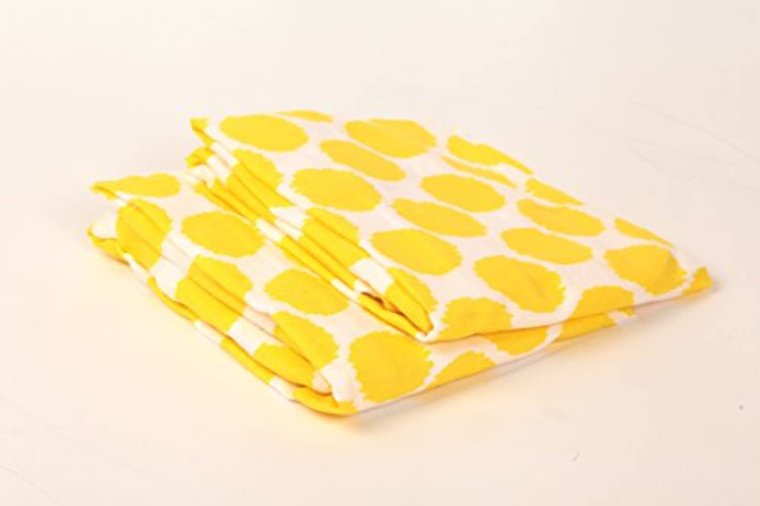 Bacati Ikat Yellow Dots 2 Pc Muslin Crib Sheets by Bacati