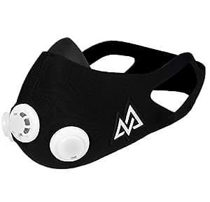 Training mask トレーニングマスク エレベーションマスク 低酸素 高地トレーニング 肺活量 (Black, S)