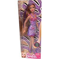 Barbie Hairtastic Purple Dress Purple Hair Doll