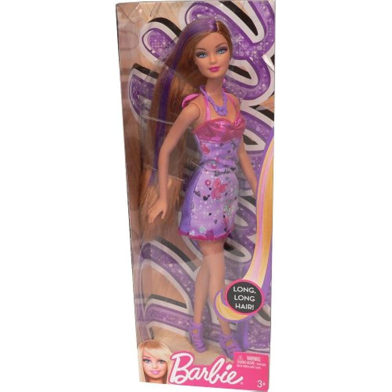 Barbie Hairtastic Purple Dress Purple Hair Doll