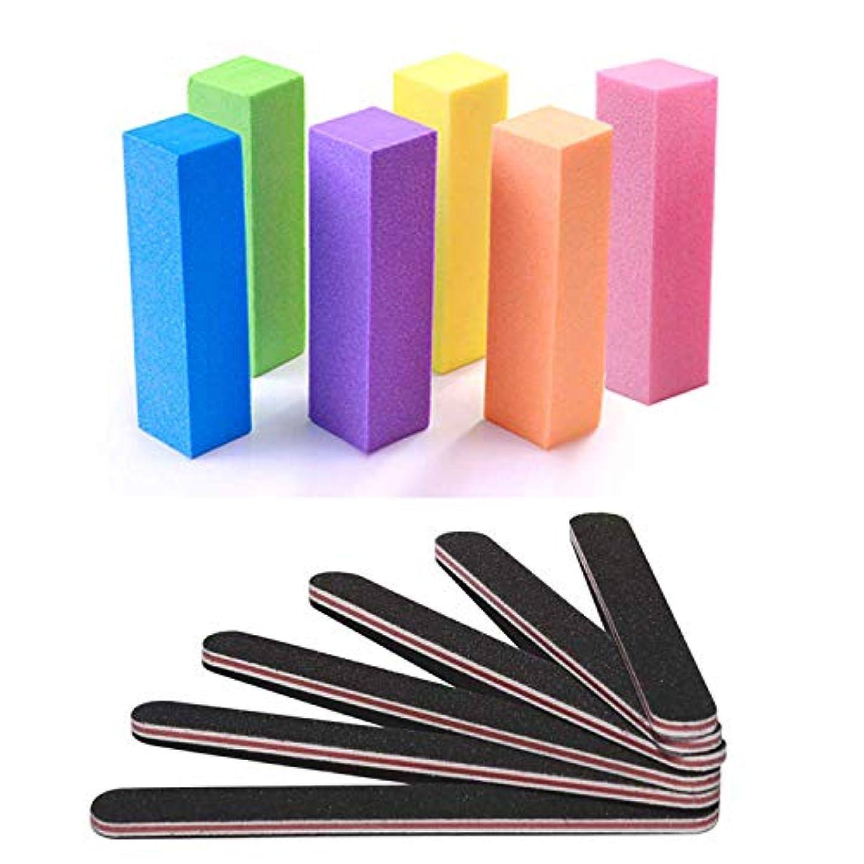 セッション箱壁紙爪やすり バッファー 爪 磨き ネイルシャイナー 12本入 グリット ネイルをつやつやに スポンジファイル ソフトファイル ネイルポリッシュファイル