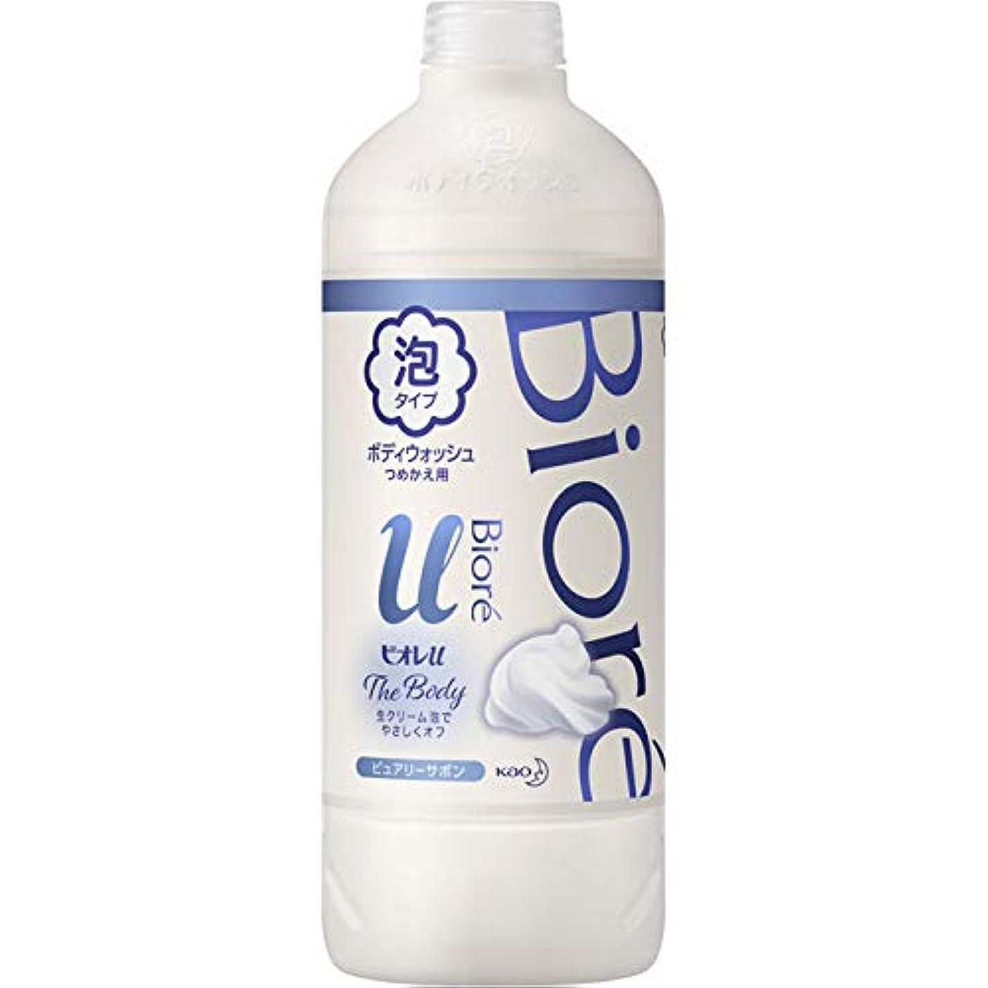 ライム無雰囲気花王 ビオレu ザ ボディ泡ピュアリーサボンの香り 詰替え用 450ml