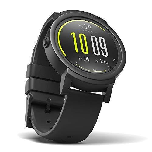 Ticwatch E スマートウォッチ 最快適 Smartwatch 1.4インチOLEDスクリーン Android Wear 2.0 Googleアシスタント搭? iPhone/Android対応 E ブラック
