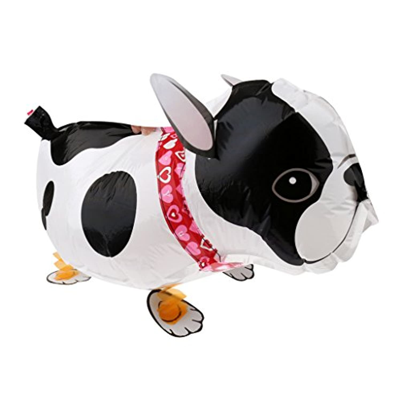 【ノーブランド 品】子供のおもちゃ ウォーキング ペット 箔 ブルドッグ ペット バルーン 動物 ヘリウム airwalker