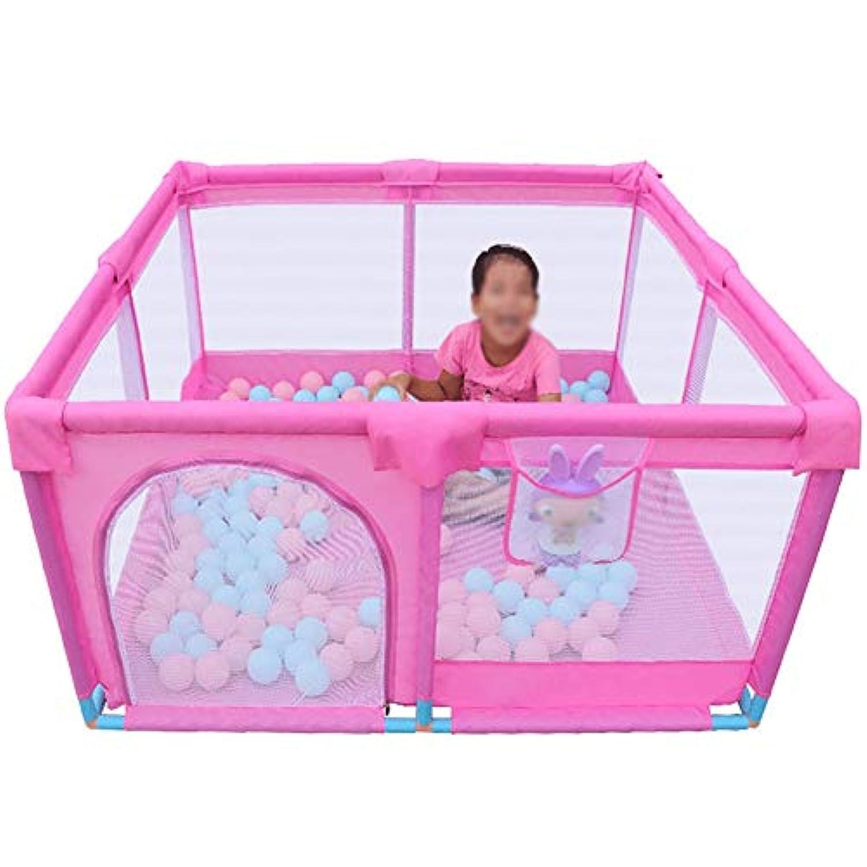マットレス付きベビープラネットタイプサッカースクエア付きのポータブルベビープレイラード女の子および男の子用の幼児メッシュプレイペンター