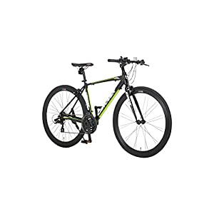 CANOVER(カノーバー) クロスバイク 700C シマノ21段変速 CAC-028(KRNOS) アルミフレーム フロントLEDライト付 ブラック