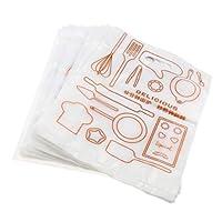 B Blesiya 食品包装 専用 手提げバッグ 面白い外観 ユニークデザイン 高品質 プラスチック製 100個入り