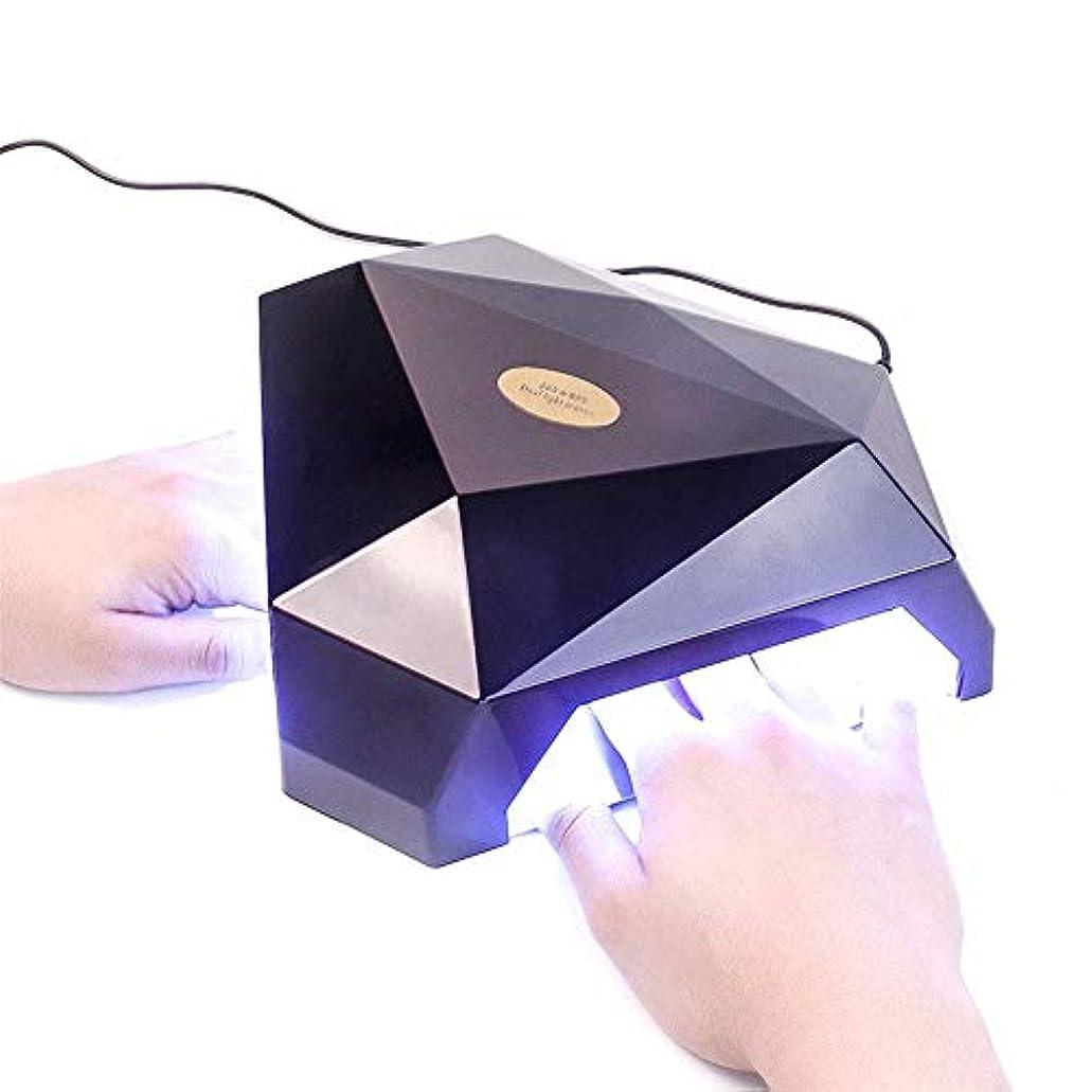 氏耳心理的に60ワット2手led uvランプネイルドライヤージェルネイルランプ用ネイルジェルポーランド硬化機ネイルアートマニキュアツールギフト、黒,ブラック